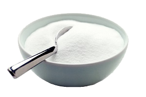 Bowl of white sugar